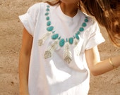 90s DREAMCATCHER native white oversize slouchy SOUTHWEST t shirt top