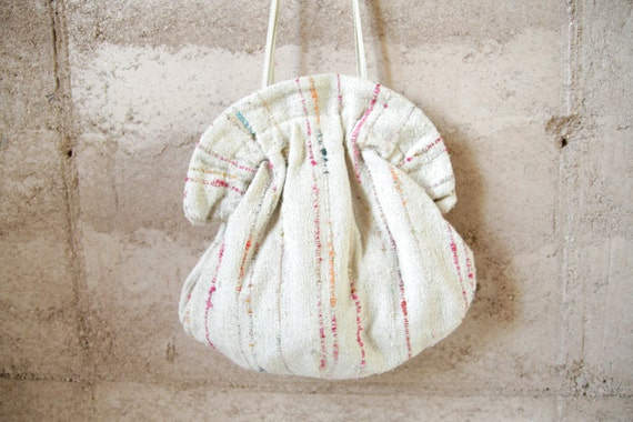 BOHO carpet BRIGHT textured leather strap purse
