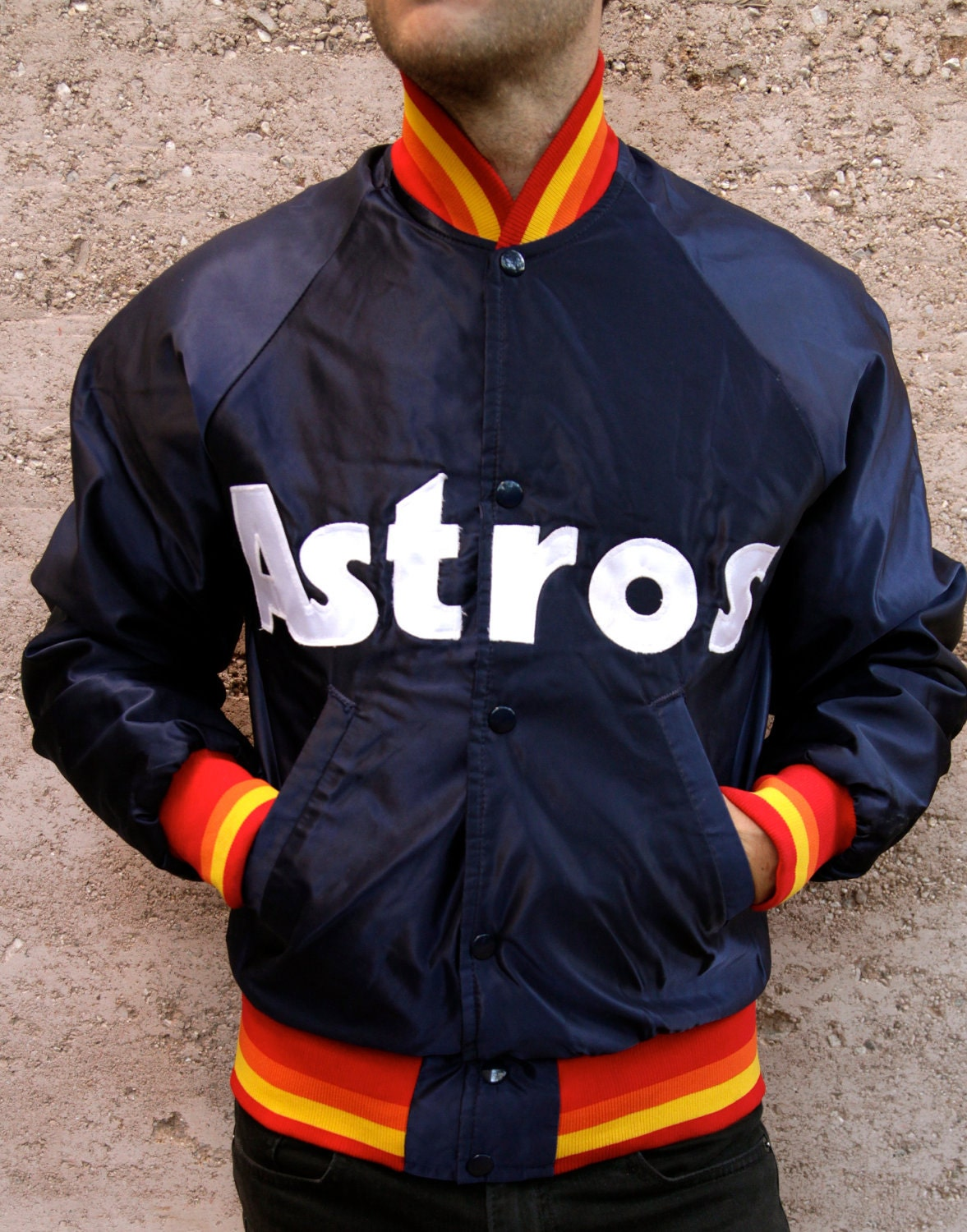 vintage 80s STARTER baseball HOUSTON astros jacket