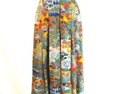 RSvD for S. Midi Skirt. GEIGER COLLECTIONS. Vintage 1980s.  Spring Fashion. Summer Fashion. Office Fashion.