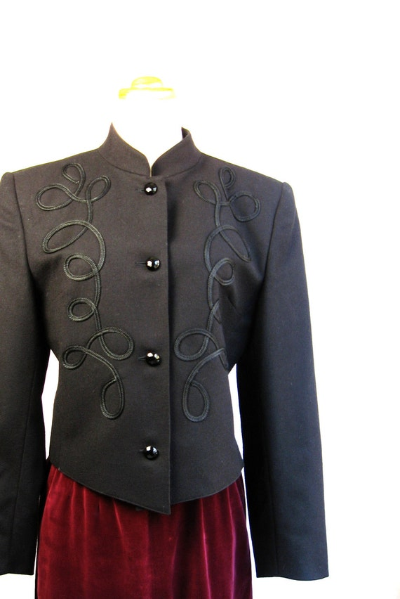 80s Guy Laroche Boutique Paris Jacket.  Made in France Size Small Medium