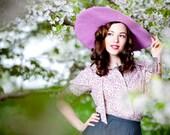 Big sun hat in lilac
