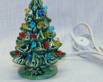 Handmade ceramic Christmas tree, 5 inch high