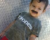 Cojones 2T, 3T, 4T Gray Baby Burnout T Shirt