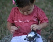 Mr. Darcy's Love Child 2T or 4T Pink Burnout T Shirt
