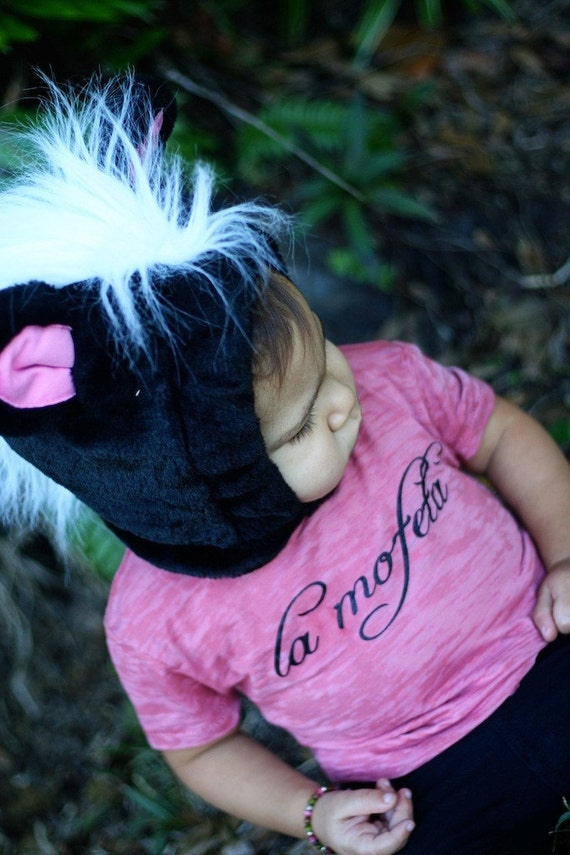 SALE La Mofeta (The Skunk) 12-18 Months Yellow Baby Burnout T Shirt