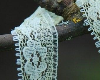 Vintage Floral Yellow Lace Trim Seam Binding 5 yards