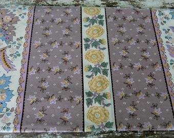 Floral Fabric Vintage 1 1/2 yards