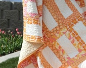 Creamsicles summertime quilt    TWIN or PICNIC size
