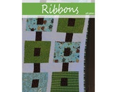 PDF Quilt Pattern -   Ribbons   -   a Baby or Throw size quilt pattern