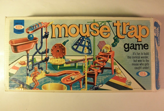 Vintage Mouse Trap Game in Box 1975 by Ideal Ages 6 to 14  2-4 Players
