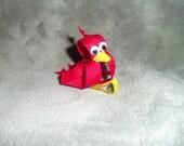 Red Cardinal Bird Clip-St. Louis Cardinals Bow