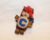 Chicago Cubs Girlie Cubbie Bear Clip