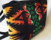 Native American Pendleton wool tote style handbag