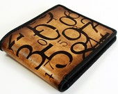 Money Slot Bi Fold Leather Wallet - Numbers Game