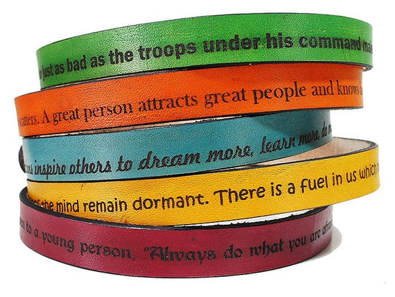 Leather Wrap Bracelet - Personalized Bracelet - Engraved Bracelet - Mens Leather Cuff