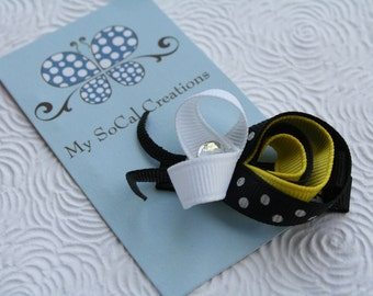 Bumble Bee Hair Clip-No Slip Clip Ribbon Sculpture