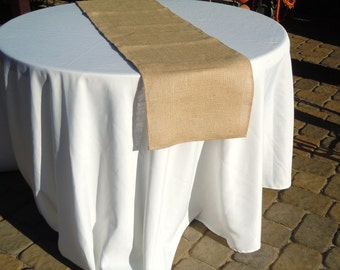 Burlap Table Runner, Tan Burlap, Wedding, Party, Shower, Home Decor, Custom Sizes Available