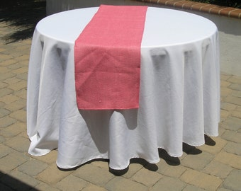 Burlap Table Runner, Pink Burlap, Wedding, Party, Shower, Home Decor, Custom Sizes Available