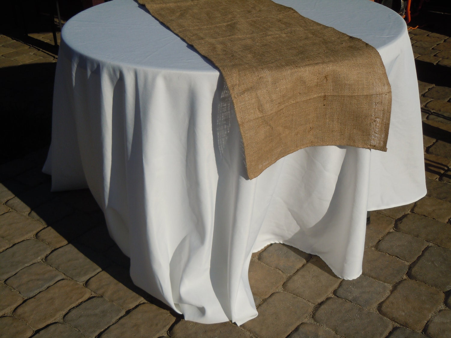Rustic Burlap Table Runner 89 Inches Long Ready To Ship
