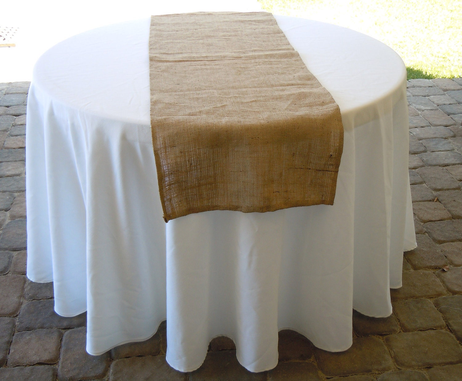 Orders 72 Table Wedding  Size table Large and Burlap Custom  runner table Available, round for Runner,