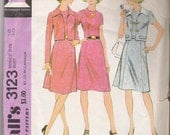 McCalls 3123 70s Womens Fitted Dress Patterns Short Jacket Patterns Large Size 18 COMPLETE Sewing Patterns Vintage Craft Supplies YacketUSA