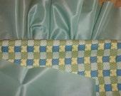 """Mint Green Trim Satin Trim Blanket Quilt Binding, Bunting, Ruffle, Seafoam Green Ribbon, 6"""" 5 Yards Craft Supplies YacketUSA"""