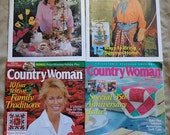50% Off Sale - Country Woman Magazine Collection, 2005, Four, 4 Craft Idea Magazines, Lot  Craft Supplies YacketUSA
