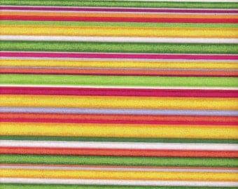 Yellow Striped Fabric Red Cotton Fabric Orange Fabric Purple Green Striped Fabric Cotton Fabric Yardage Sewing Supplies YacketUSA