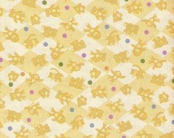 Yellow Fabric Yellow Checkered Fabric Yellow Monkey Fabric Kitty Fabric 4 Yards Lot Cotton Fabric Quilting Craft Supplies YacketUSA