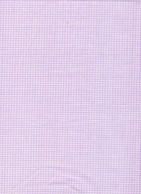 Purple Fabric Lavender Gingham Fabric 3/4 Yards Last Piece, Quilting Cotton Fabric BTY, YacketUSA