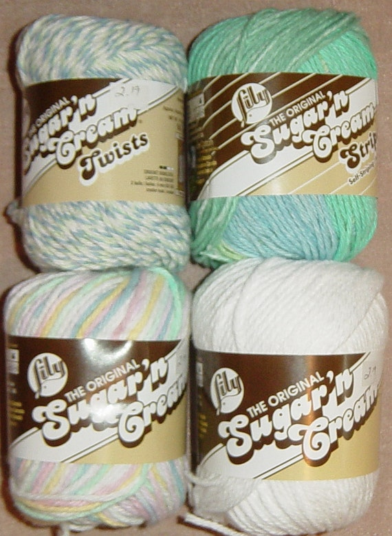 Lily Brand Thread Crochet Cotton Sugar &Cream Crochet Thread Solids Variegated Two Skeins, Your Choice of Color Craft Supplies YacketUSA