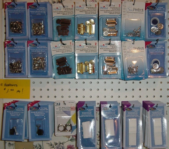 RESERVED - Assorted Fasteners Snaps, Over-All Buckles, D-Rings Bra Repair Hooks - Your Choice, 10, Ten Supplies YacketUSA