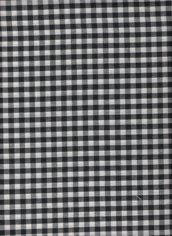 Items Similar To Black Fabric Black Gingham Fabric Black White Checked Fabric Polyester Cotton