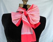 Adorable pink and white striped scarf
