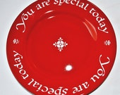 Original You Are Special Today Red Plate, 1979