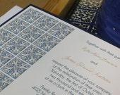 SAMPLE Spanish Tile Wedding Invitation