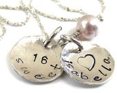 Personalized Sweet 16 necklace - Hand stamped jewelry - Sweet 16 Jewelry - Name Jewelry - Sweet 16 - Sweet Sixteen gift