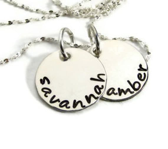 Hand Stamped Mothers Necklace - Personalized Name Necklace - Mothers Necklace - Personalized Jewelry - Mothers Day Jewelry - Name Jewelry -