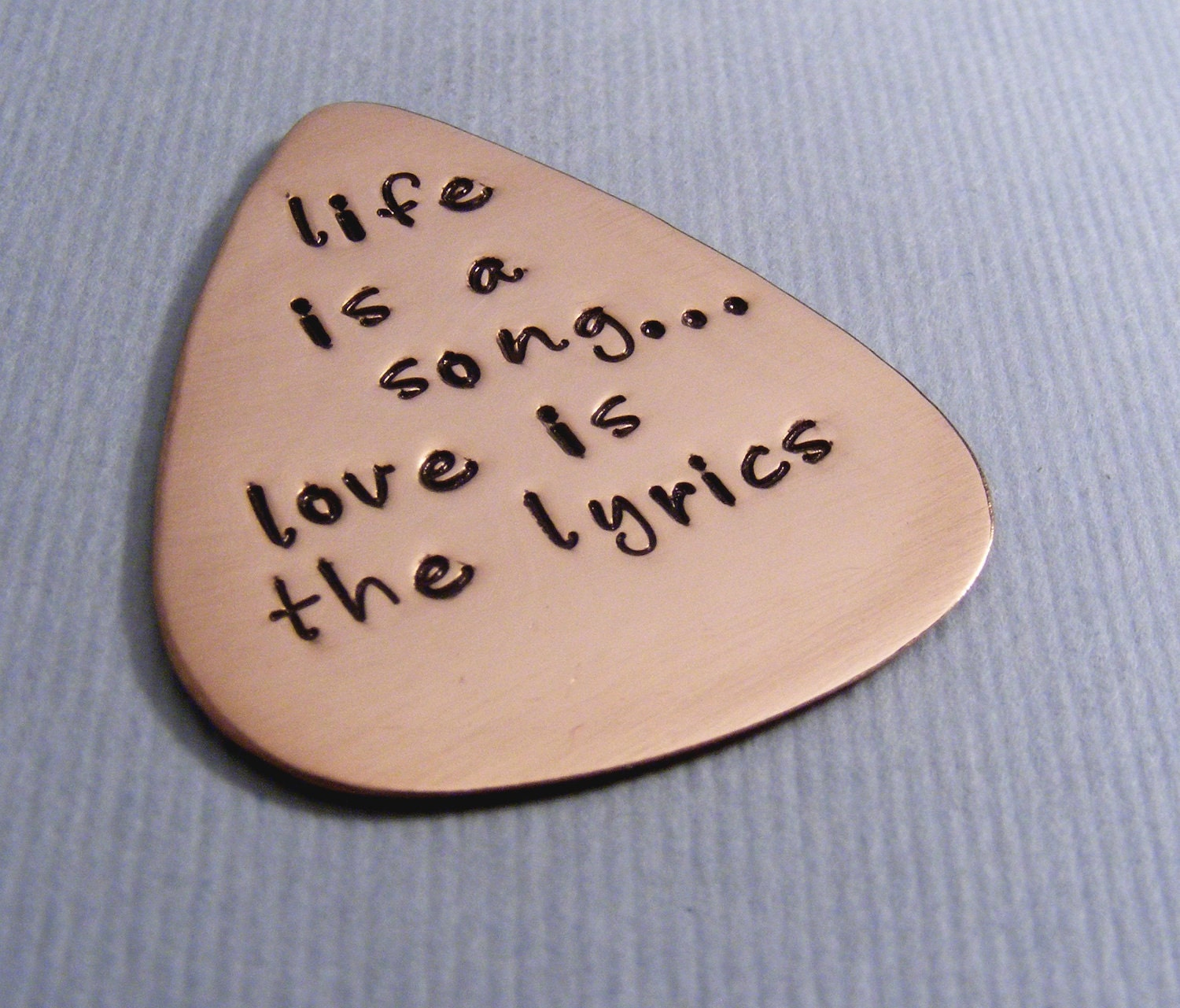 Personalized Guitar Pick-Custom Pick For Him-Music Lovers