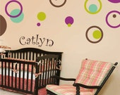 CIRCLE RINGS vinyl wall decals kids room nursery stickers bubbles polka dots - 3 Colors