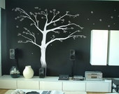 8ft Cherry Blossom Tree vinyl wall decal, removable matte finish graphics art