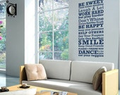 Rules of the House LARGE - wall monogram phrase decal quote vinyl wall art