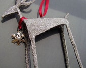 Promotion Sale Enchanted Glitter Reindeer Ornament - Object