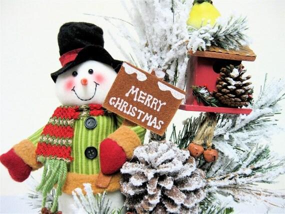Snowman christmas centerpiece arrangement by