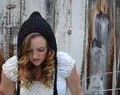black hood hat