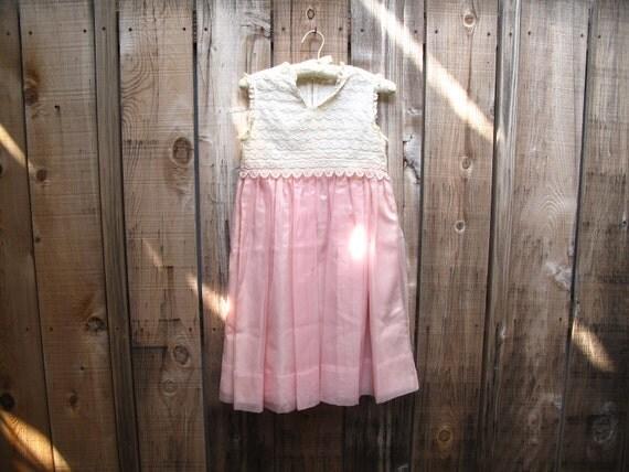 1960s vintage PINK DOLLY dress xs / s