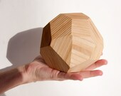 On the Rocks tabletop sculpture - 1 Large 'rock' - wooden gem, multi-faceted, rock sculpture, upcycling