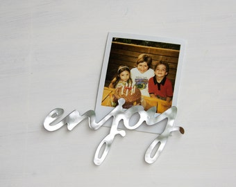 Fridge Magnet Word Enjoy in Mirror Acrylic