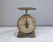 SALE Vintage 1907 Columbia Family Scale Gray Rustic Industrial Chic
